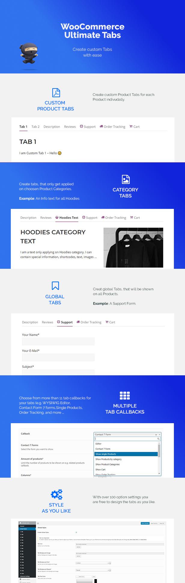 WooCommerce Custom Tabs Plugin