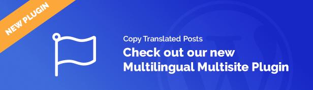 Postagens multilingues de cópia em vários locais